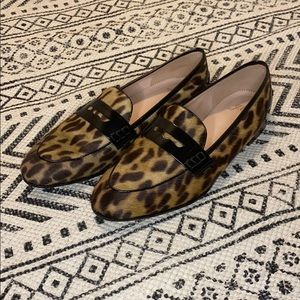 J. Crew Haircalf Academy Penny Loafer in Leopard